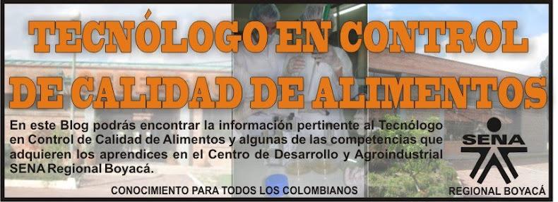 TECNÓLOGO EN CONTROL DE CALIDAD