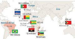 Mapa dos países de Língua Portuguesa