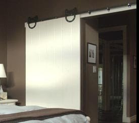 Rolling Barn Door Is Great Space Saver
