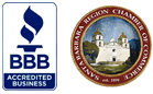 Proud Member of the BBB & Santa Barbara Chamber of Commerce