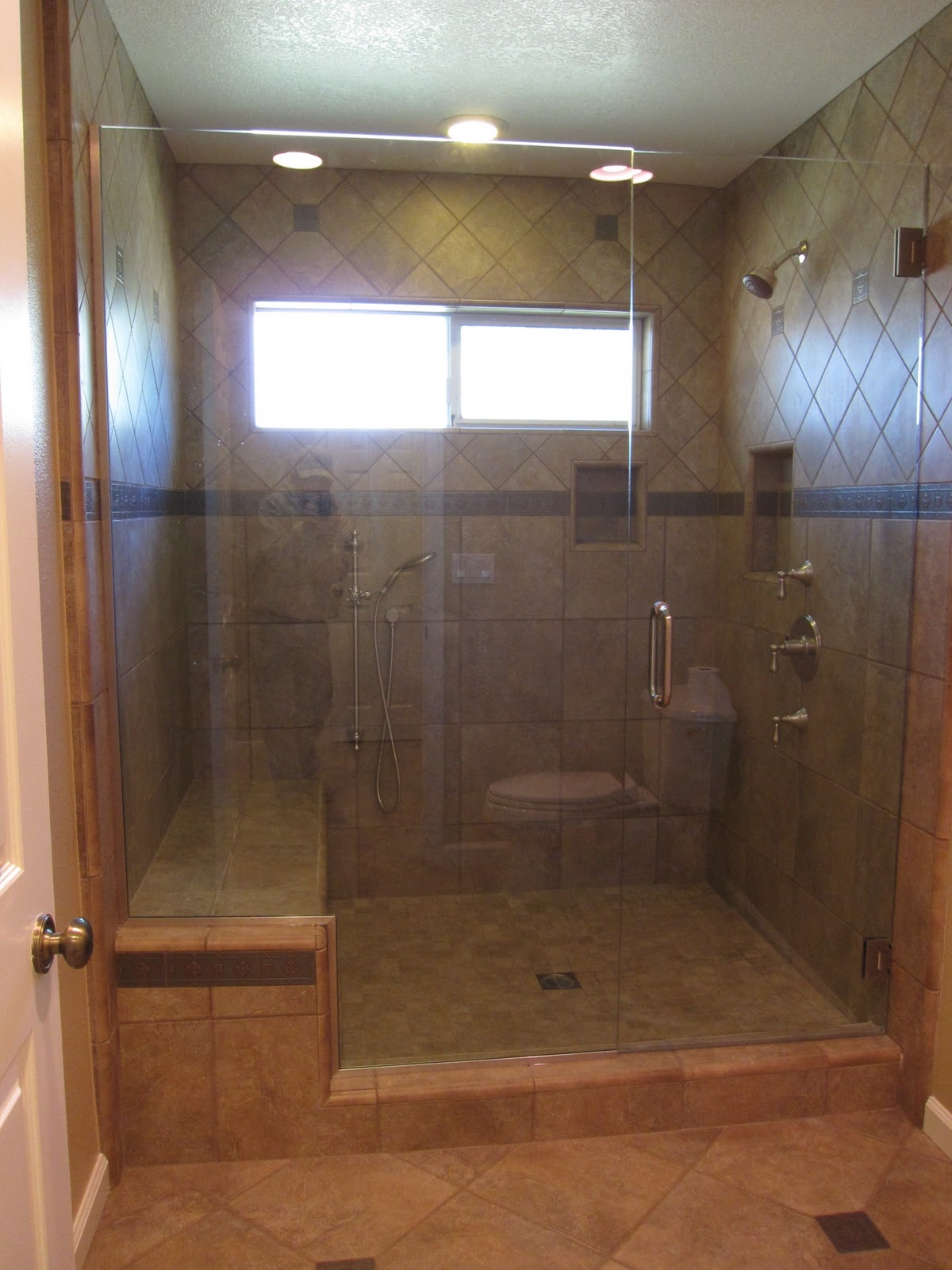 Superb Bathtub Shower Doors Tub Shower Combo And Went With A Six Foot By Five Foot  Walk