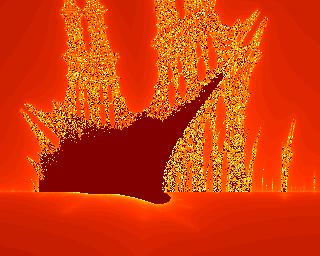 Burning Ship, centre left zoom x30