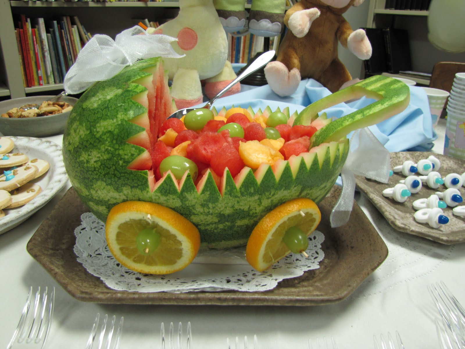 similar results baby carriage fruit basket for baby shower cut