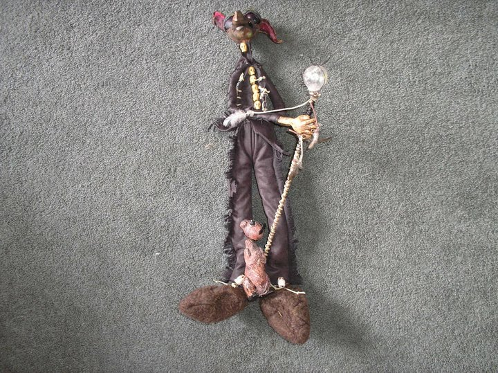 Lumus Goblin  22 inches tall Sculpey/Mixed media