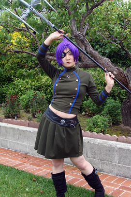 Katekyo Hitman Reborn Chrome Dokuro Cosplay Wig Costume