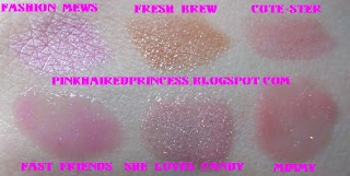 hello kitty mac lipstick and lipgloss swatches