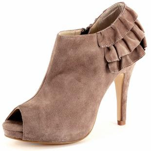 DP Collection Taupe Suede Shoe Boot