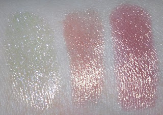 lancome color fever shine swatches top row