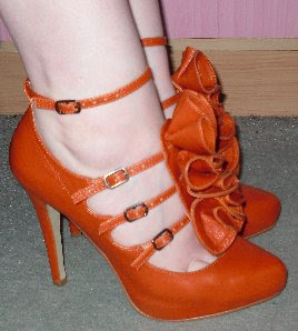 orange ruffle shoes matalan