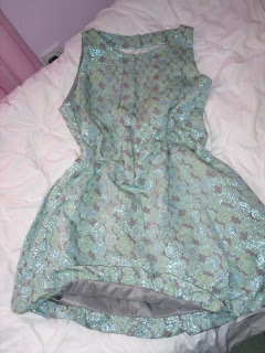 green jacquard shift dress