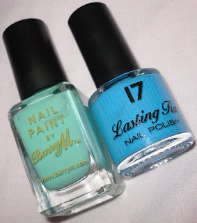 barry m mint green versus 17 seabreeze