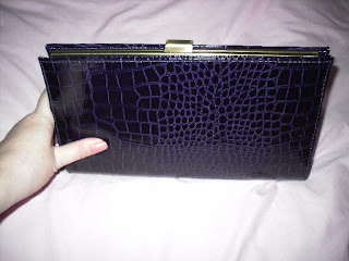primark purple clutch