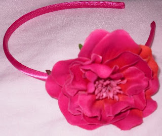 primark pink flower hairband