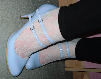 new look baby blue multi strap shoes