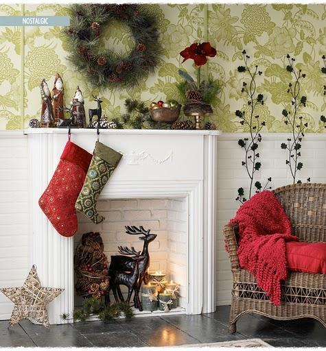 Christmas Fireplace Decoration Homebase : Fashionably southern images of christmas
