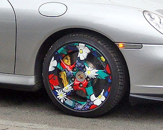 New Porsche tyres design from Russia, Moscow 2