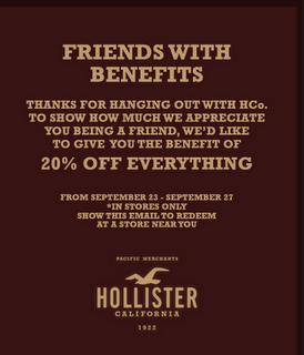 hollister promo codes coupon