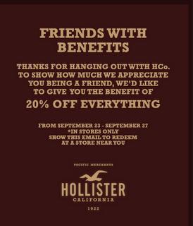Hollister coupon codes december 2018