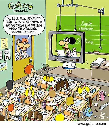 Escola hoje (cartum de www.gaturro.com)