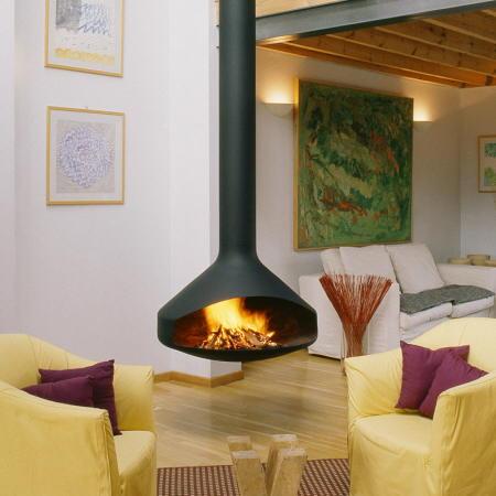 Alegr a y color chimeneas modernas for Chimeneas para pisos