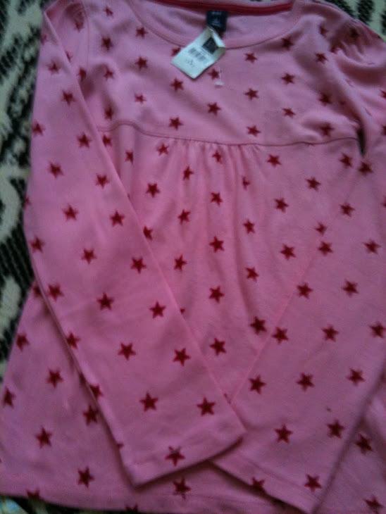 Gap Pink Star (size: M- 8y)