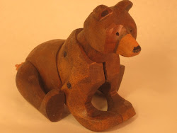 Articulating wooden bear