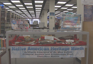 2007 American Indian Heritage Month display