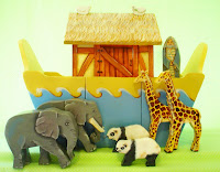 Noah's Ark green background