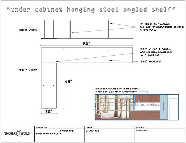 Floating Shelf Detail Drawings