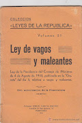 Sobre la promulgacin de la Vagos y Maleantes de 1933