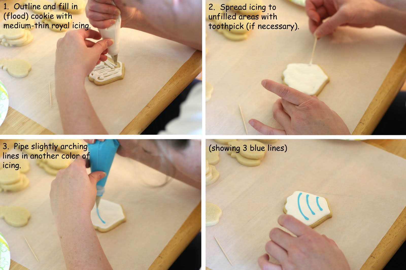 Cookie decorating how to make pretty luau cookies glorious treats now were ready to decorate first up is the shell izmirmasajfo