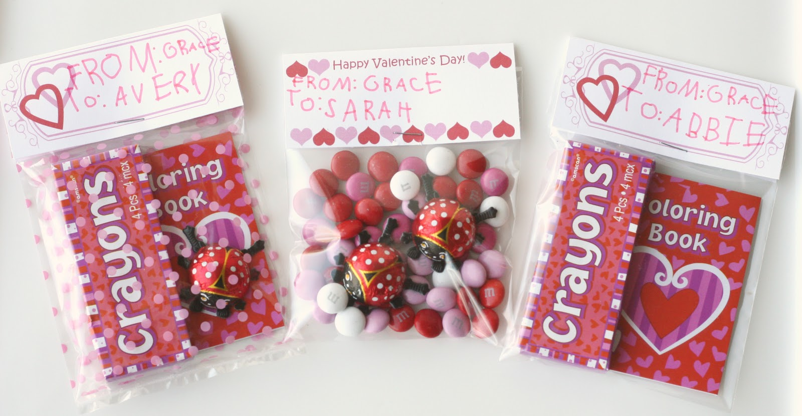 sweet valentines for kids and a free printable - Valentine Goodie Bag Ideas