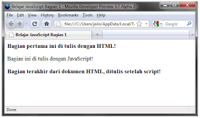 contoh program javascript