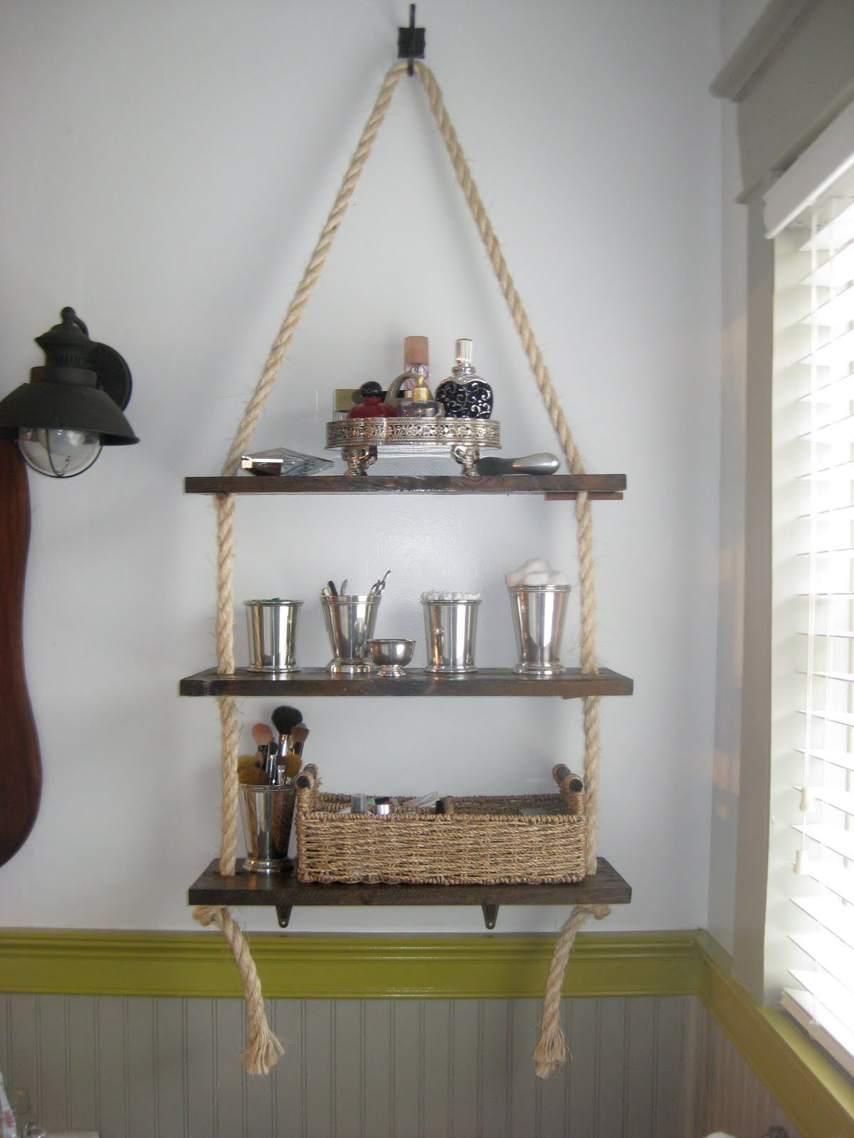 a walk through: bathroom shelving diy