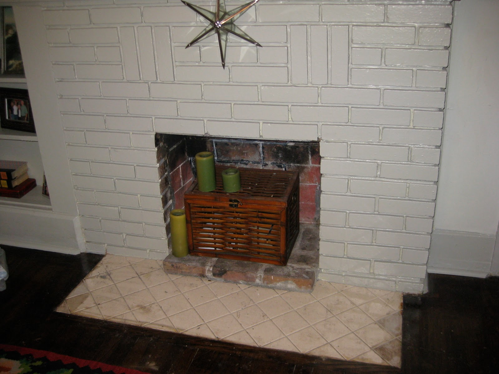 a walk through we retiled the fireplace hearth