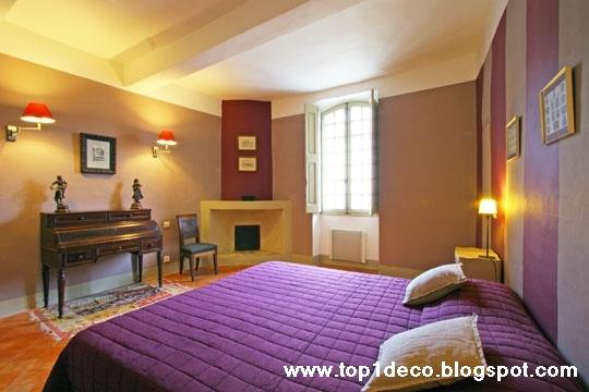 Deco style violine a la chambre de nuit for Decoration chambre de nuit