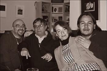 Federico,Maria José,Kostas y yo en entre lineas de recitales y amistad.