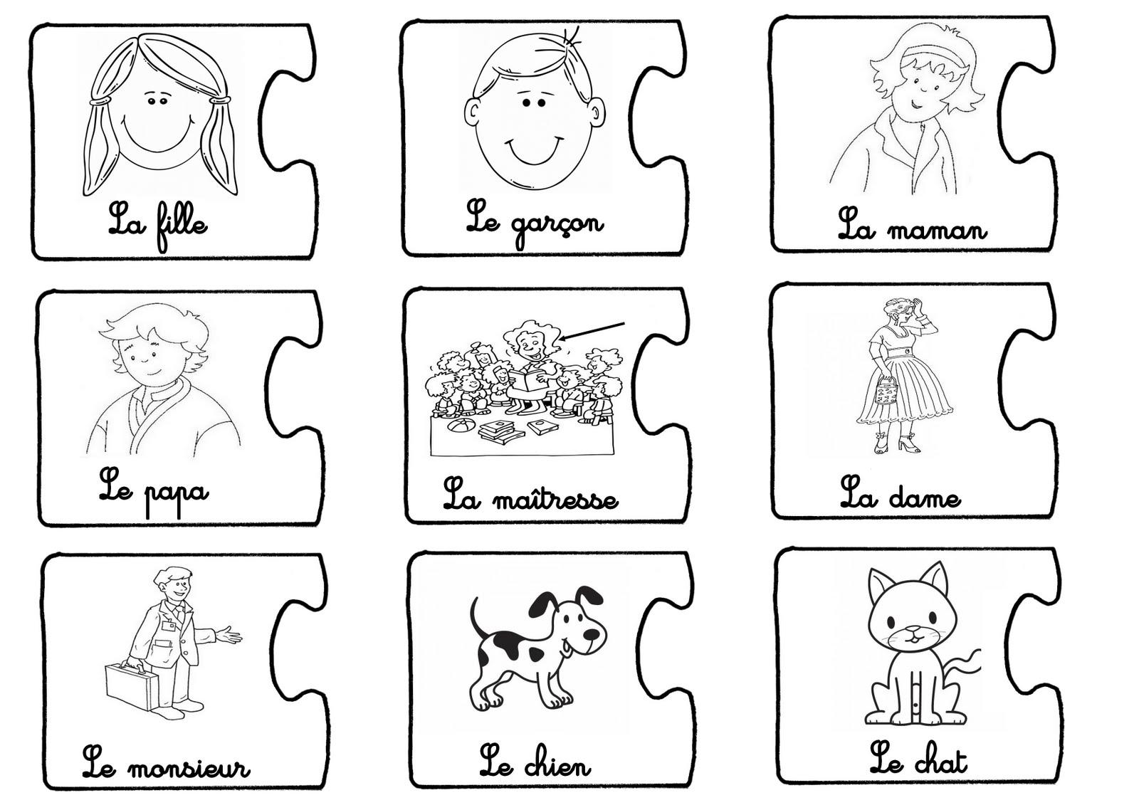 Favori La maternelle de Laurène: Jeu pour apprendre à construire une  CS01