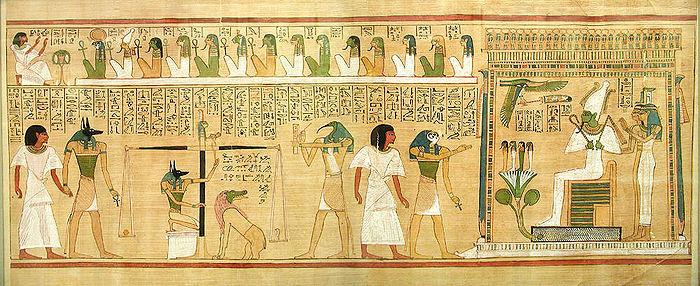 Fragmento del Libro de los Muertos, de Hunefer.