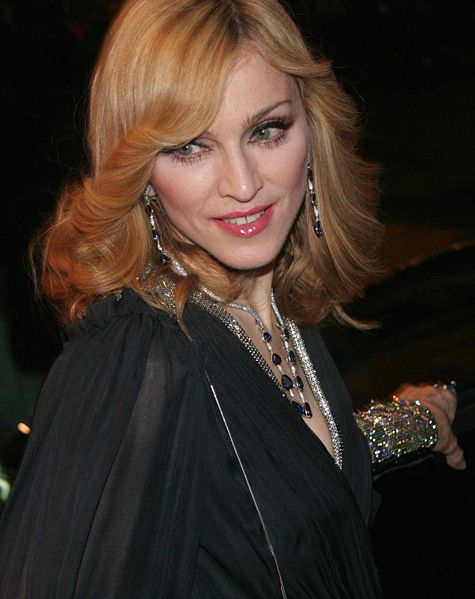Madonna durante la promoción del documental I'm Going to Tell You a Secret.