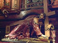 Cristo caído (1698), escultura de Nicola Fumo en la iglesia de San Ginés (Madrid).