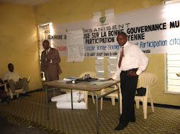 Atelier sur la Bonne Gouvernance Municipale et la participation citoyenne à Lingwala