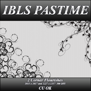 2 Corner Overlay - By: IBLS Pastime Corner+flourishes