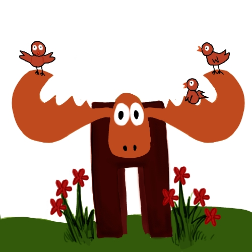 [baby+finks+visit+moose]