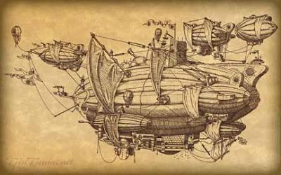 steampunk foglio airship