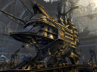 steampunk train T.P.Barricuda - Theme Planet