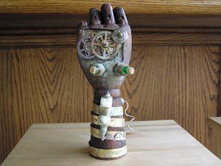 steampunk clockword hand of anton evisser