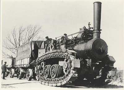 Hornsby Steam Crawler - historical steampunk tractor