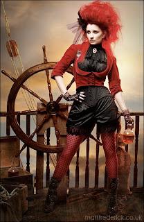 Sky Pirate 1 - steampunk portrait by Matt Frederick