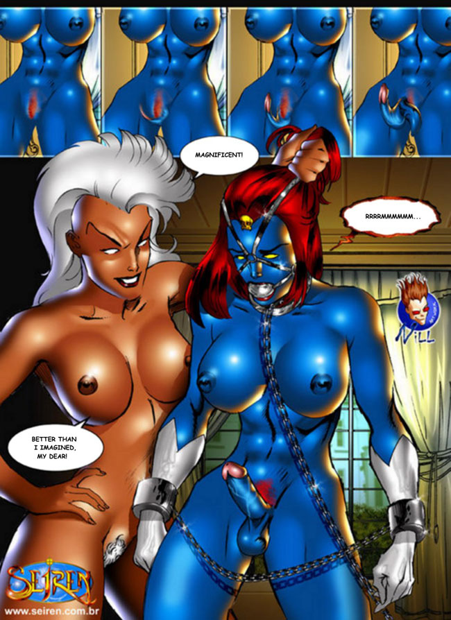 Mystery Sex Fetish Theater: Xmen Porn: Mystique is a Tranny x-men sex